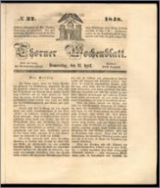 Thorner Wochenblatt 1848, No. 32 + Beilage