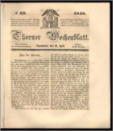 Thorner Wochenblatt 1848, No. 33 + Beilage