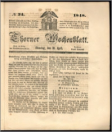 Thorner Wochenblatt 1848, No. 34