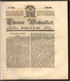 Thorner Wochenblatt 1848, No. 35 + Beilage