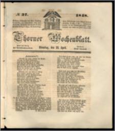 Thorner Wochenblatt 1848, No. 37 + Beilage