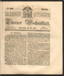 Thorner Wochenblatt 1848, No. 38 + Beilage
