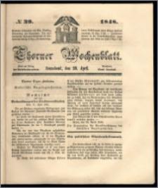 Thorner Wochenblatt 1848, No. 39 + Beilage