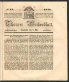 Thorner Wochenblatt 1848, No. 42 + Beilage