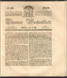 Thorner Wochenblatt 1848, No. 43