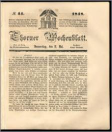 Thorner Wochenblatt 1848, No. 44 + Beilage
