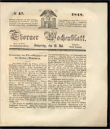 Thorner Wochenblatt 1848, No. 47