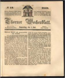 Thorner Wochenblatt 1848, No. 53
