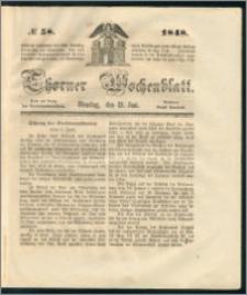 Thorner Wochenblatt 1848, No. 58 + Beilage