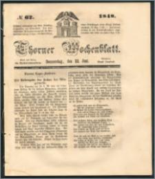 Thorner Wochenblatt 1848, No. 62 + Beilage