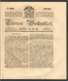 Thorner Wochenblatt 1848, No. 63 + Beilage