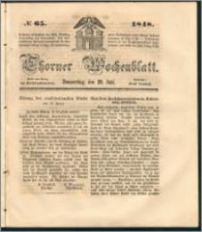 Thorner Wochenblatt 1848, No. 65 + Beilage