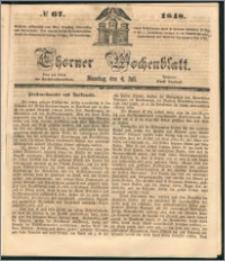 Thorner Wochenblatt 1848, No. 67 + Beilage