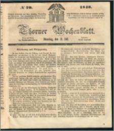 Thorner Wochenblatt 1848, No. 70 + Beilage