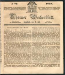 Thorner Wochenblatt 1848, No. 72 + Beilage
