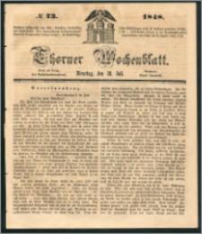 Thorner Wochenblatt 1848, No. 73 + Beilage