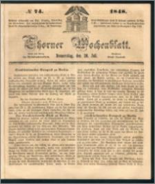 Thorner Wochenblatt 1848, No. 74 + Beilage