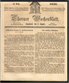 Thorner Wochenblatt 1848, No. 81 + Beilage