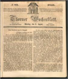 Thorner Wochenblatt 1848, No. 82 + Beilage