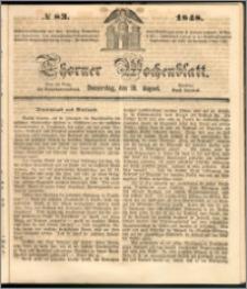 Thorner Wochenblatt 1848, No. 83 + Beilage