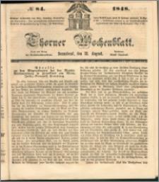 Thorner Wochenblatt 1848, No. 84 + Beilage