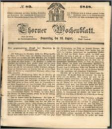 Thorner Wochenblatt 1848, No. 89 + Beilage