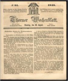 Thorner Wochenblatt 1848, No. 91 + Extra Blatt