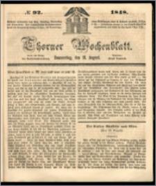 Thorner Wochenblatt 1848, No. 92 + Beilage