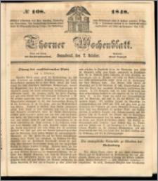 Thorner Wochenblatt 1848, No. 108 + Beilage