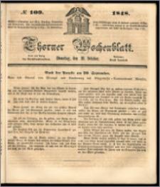 Thorner Wochenblatt 1848, No. 109 + Beilage