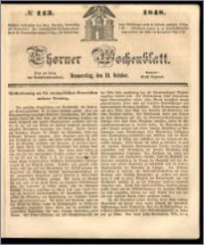Thorner Wochenblatt 1848, No. 113 + Beilage