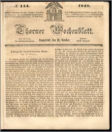 Thorner Wochenblatt 1848, No. 114 + Beilage