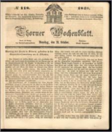 Thorner Wochenblatt 1848, No. 118 + Beilage