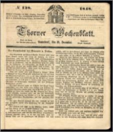 Thorner Wochenblatt 1848, No. 138 + Beilage