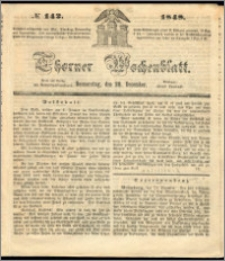 Thorner Wochenblatt 1848, No. 142