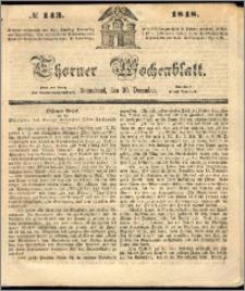 Thorner Wochenblatt 1848, No. 143