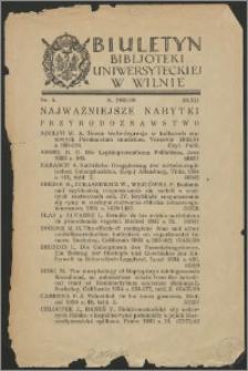 Biuletyn Biblioteki Uniwersyteckiej w Wilnie 1935/1936 nr 5