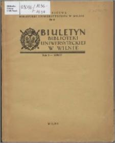 Biuletyn Biblioteki Uniwersyteckiej w Wilnie 1936/1937 nr 1