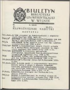 Biuletyn Biblioteki Uniwersyteckiej w Wilnie 1936/1937 nr 2