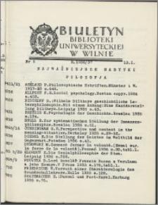 Biuletyn Biblioteki Uniwersyteckiej w Wilnie 1936/1937 nr 5