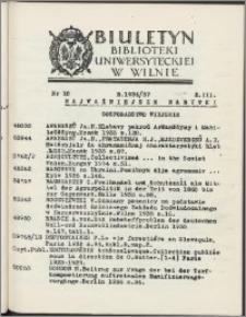 Biuletyn Biblioteki Uniwersyteckiej w Wilnie 1936/1937 nr 10