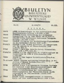 Biuletyn Biblioteki Uniwersyteckiej w Wilnie 1936/1937 nr 11
