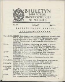 Biuletyn Biblioteki Uniwersyteckiej w Wilnie 1936/1937 nr 19