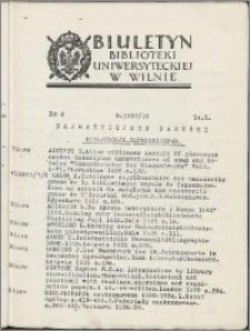 Biuletyn Biblioteki Uniwersyteckiej w Wilnie 1937/1938 nr 2
