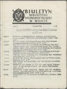 Biuletyn Biblioteki Uniwersyteckiej w Wilnie 1937/1938 nr 4