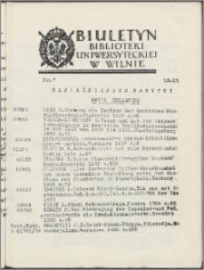 Biuletyn Biblioteki Uniwersyteckiej w Wilnie 1937/1938 nr 7