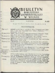 Biuletyn Biblioteki Uniwersyteckiej w Wilnie 1937/1938 nr 8