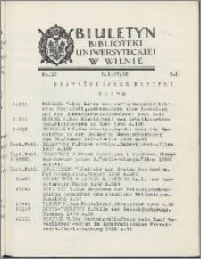 Biuletyn Biblioteki Uniwersyteckiej w Wilnie 1937/1938 nr 12