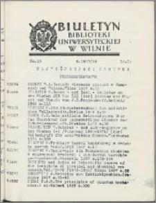 Biuletyn Biblioteki Uniwersyteckiej w Wilnie 1937/1938 nr 13