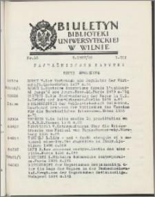 Biuletyn Biblioteki Uniwersyteckiej w Wilnie 1937/1938 nr 15
